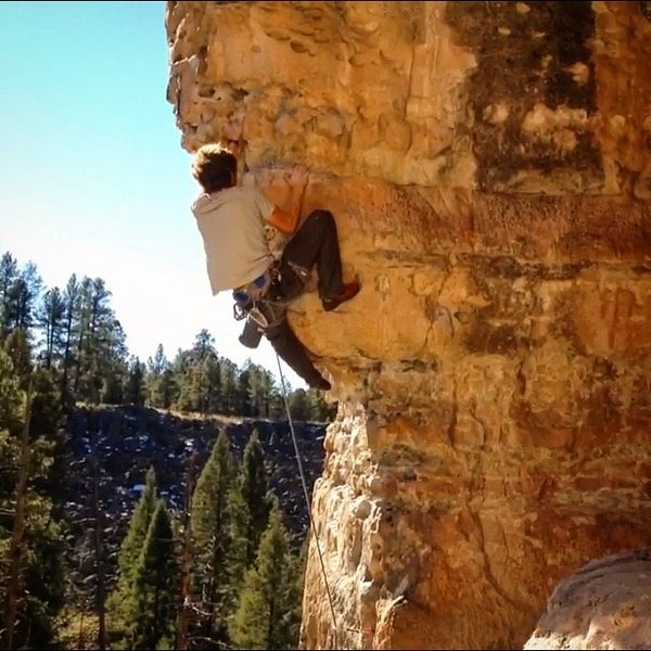 Rock Climbing Photo: Pulling through the Crux!