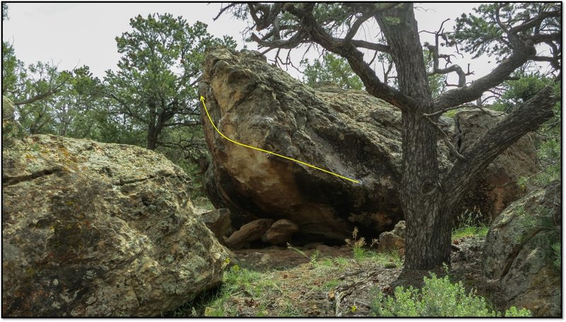 Rock Climbing Photo: Goombah Gallantry problem beta.