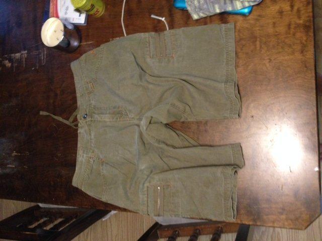 Prana Cargo like shorts, green Sz L $25