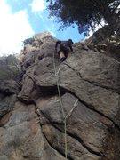 Rock Climbing Photo: Above the first bolt.