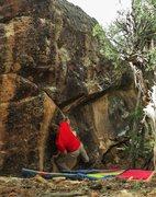 Rock Climbing Photo: Start beta of Satan's Quill.