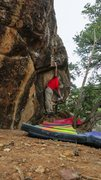Rock Climbing Photo: Making the press on Thundering Silence.