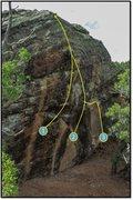 Rock Climbing Photo: 3. Thundering Silence problem beta.