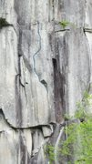 Rock Climbing Photo: Topo showing the upper boulder problems of Shirley...