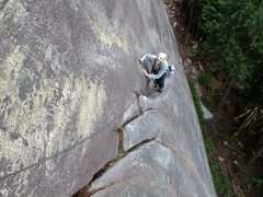 Rock Climbing Photo: Pitch 1 of Hairpin.