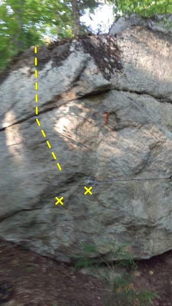 Rock Climbing Photo: Keep left and crimp straight up the face.