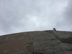 Rock Climbing Photo: Stella leading Easy Rider (5.8)