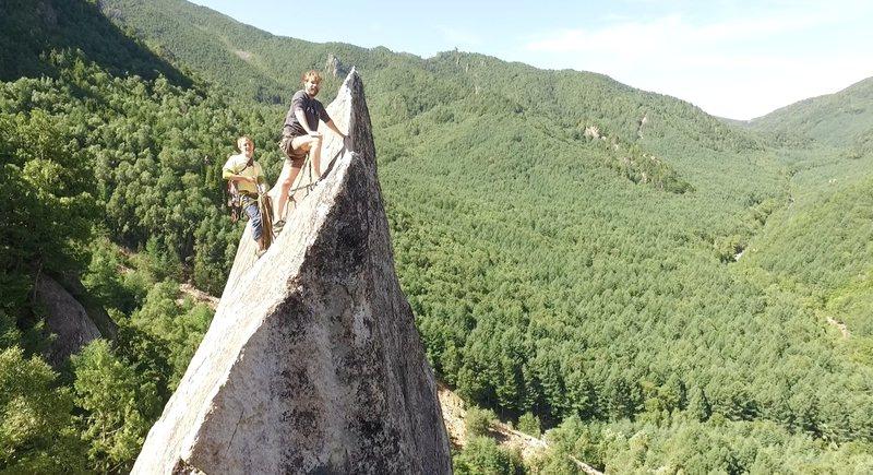 Rock Climbing Photo: Drone shot.