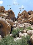 Rock Climbing Photo: Black Corridor detail, Horsemen's Center