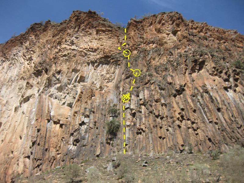 Rock Climbing Photo: Apologies for the blurry photo