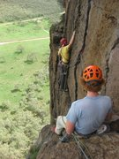 Rock Climbing Photo: An incredible traverse for the grade.