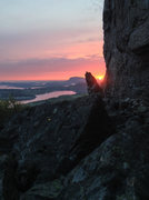 Rock Climbing Photo: When the sun sets for 2 hours you can get some spe...