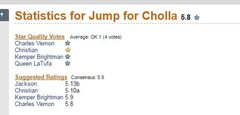 Rock Climbing Photo: Jump for Cholla