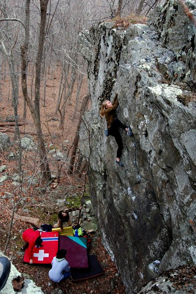 Rock Climbing Photo: Evergreen, V2