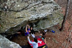 Rock Climbing Photo: Life After Greenstone (pre hold break), V9