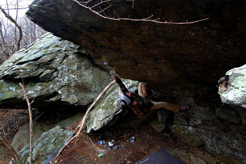 Rock Climbing Photo: Life After Greenstone (pre hold break), V9