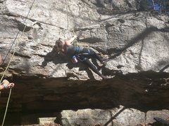 Rock Climbing Photo: Getting over the low crux gets you into a fun posi...