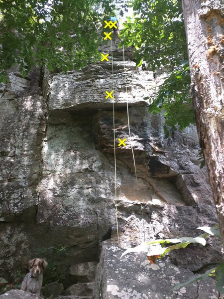 Rock Climbing Photo: Michael is preparing to rappel after completing th...