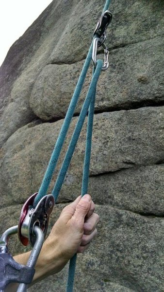 You now have a mechanical advantage for moving past any crux section.