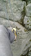 Rock Climbing Photo: Use long sling to stand up to clip directly into t...