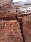 Rock Climbing Photo: Close up profile of the crack.