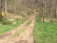 Rock Climbing Photo: Picture of the gate that blocks Limestone Run Road...