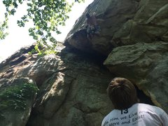 Rock Climbing Photo: Belaying Johnny Arms on Sloth 11b