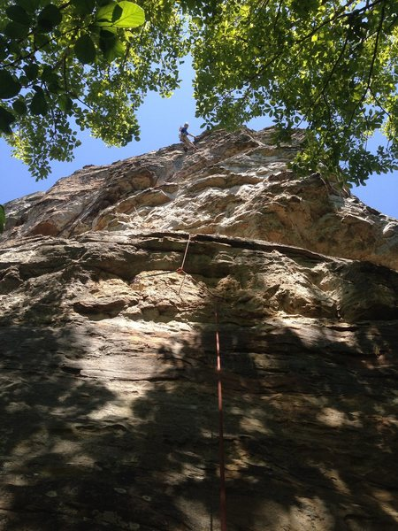 Rock Climbing Photo: In direct at the Anchors after onsighting Comforta...