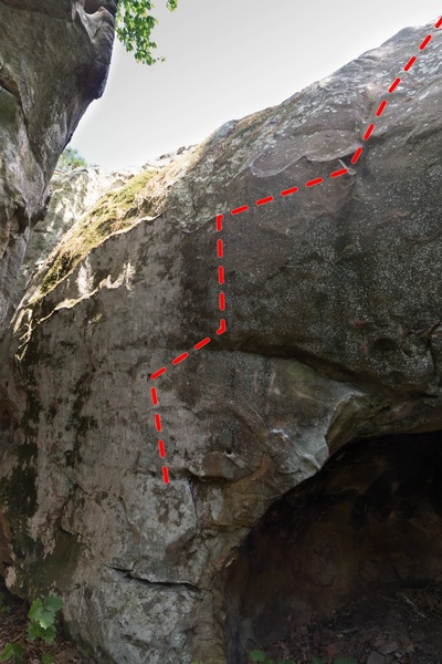 Literally, follow the red for the movement of hands on this route.