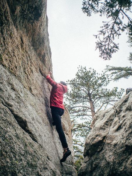 Rock Climbing Photo: Will on Problem B