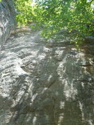 Rock Climbing Photo: The faint but fun left-angling seam of Slot Machin...