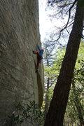 Rock Climbing Photo: Heel hookin'