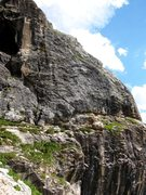 Rock Climbing Photo: Upper and top of the lower right side of the Ei se...