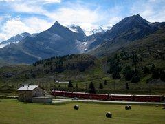 Rock Climbing Photo: Bernina Railway at Lagalb