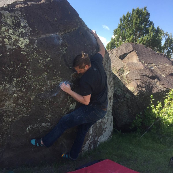Rock Climbing Photo: Moving to the pinch on That's Compressive