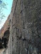 Rock Climbing Photo: Beta photo for the crux section of bolts 2-3, afte...