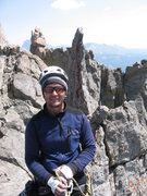 Rock Climbing Photo: Top of Feather Buttress 2014