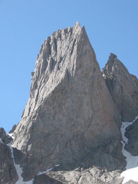 Rock Climbing Photo: Warbonnet.  Feather Buttress follows the obvious D...