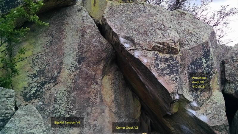 Rock Climbing Photo: Big Kid Tantrum, V4.