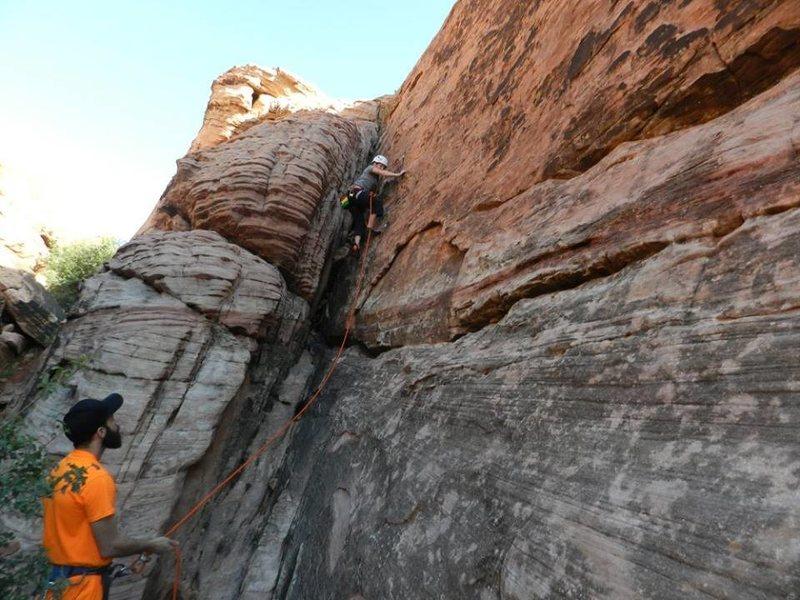 Rock Climbing Photo: Keri-Lynn about half way