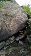 Rock Climbing Photo: Finger Ladder, the furthest right problem along th...