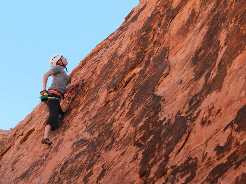 Rock Climbing Photo: KLS looking for her next move