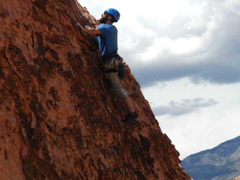 Rock Climbing Photo: checking out the next move