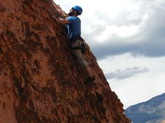 Rock Climbing Photo: checking out the next move