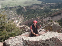 Rock Climbing Photo: Rewritten 5.7 Eldorado Canyon May 2016