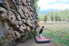 Rock Climbing Photo: Spotting Cora at The Draw.
