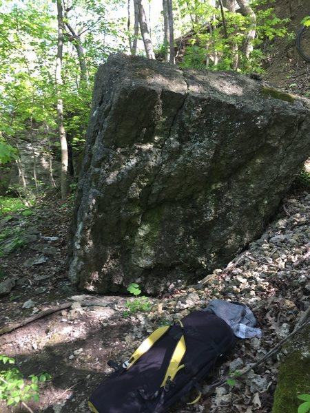 good angle on the boulder