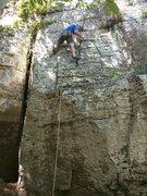 Rock Climbing Photo: Michael is a few feet above the namesake mantle.