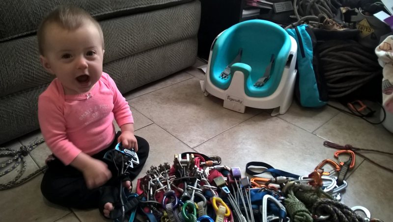 Rock Climbing Photo: She's telling me I'm not going to need this blue c...