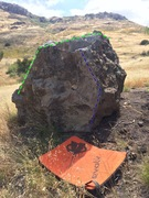 Rock Climbing Photo: Green is a SDS traverse from L-R is the Roadside A...